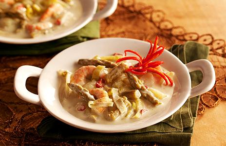 Ensopado de Aspargos com Camarões Gomes da Costa Master Foods BH