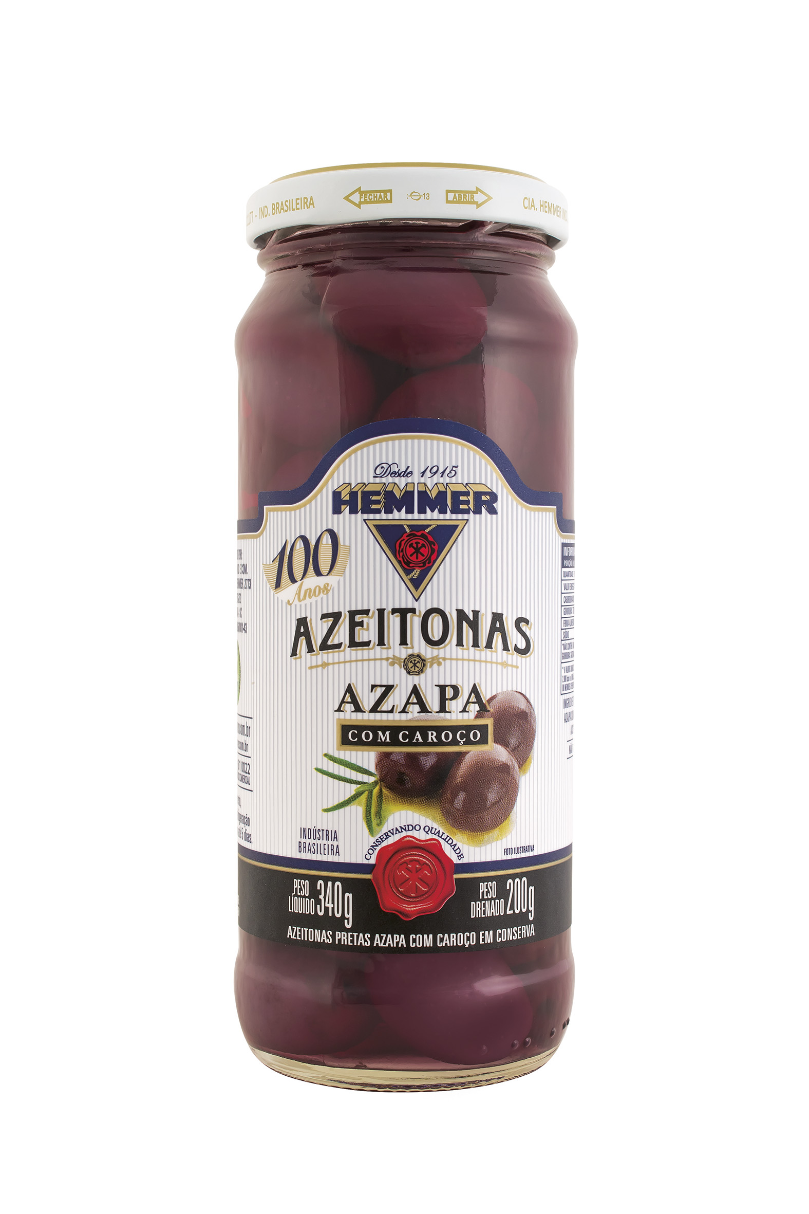 Azeitona Azapa Preta c/ Caroço